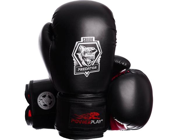 Боксерские перчатки PowerPlay 3001 Shark Series красные, фото 1