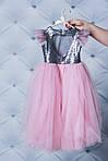 Нарядное платье для девочки с пайетками Розовое, фото 3