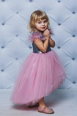 Нарядне плаття для дівчинки з паєтками Рожеве