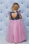 Нарядное платье для девочки с пайетками Розовое, фото 4