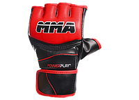 Перчатки для ММА PowerPlay 3055 черно-красные S