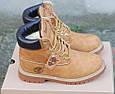 Мужские Зимние Ботинки в стиле Timberland Светло-коричневые, фото 5