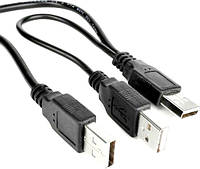Кабель USB М / 2 USB М c доппитанием