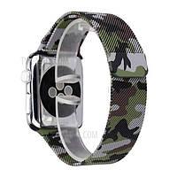Ремешок для Apple Watch Series 4/3/2/1 42mm камуфляж, Green
