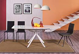 Стіл обідній зі скляною стільницею Олександрія -1 (B2402) Exm, колір білий