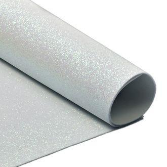 Фоамиран с глиттером  2 мм   А4  уп.10шт белый