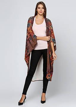 Накидка Gold Style Uni (42-52) коричневый (Kimono_150008)