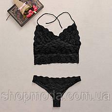 Гипюровый сексуальный комплект, фото 2