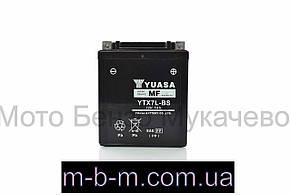 """АКБ  12V 7A  кислотный, высокий  120-60-130mm  YTX7L-BS  """"YUASA""""  ЯВА"""