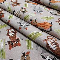 Ткань для штор Cat коричневый 280 см (629931)