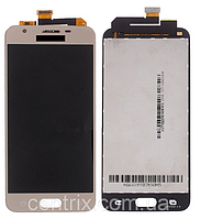 Дисплей (экран) для Samsung G570 Galaxy On5 (2016), G570F, DS Galaxy J5 Prime + тачскрин, золотистый, оригинал