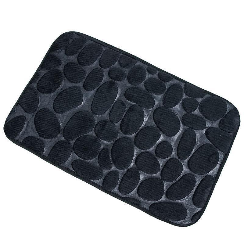 Плюшевый коврик «Галька» 40×60 см черный