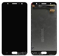 Дисплей (экран) для Samsung G610 Galaxy J7 Prime, SM-G610 Galaxy On Nxt + тачскрин, черный, оригинал