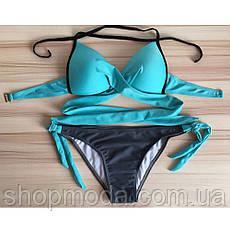 Раздельный женский купальник на завязках, фото 3