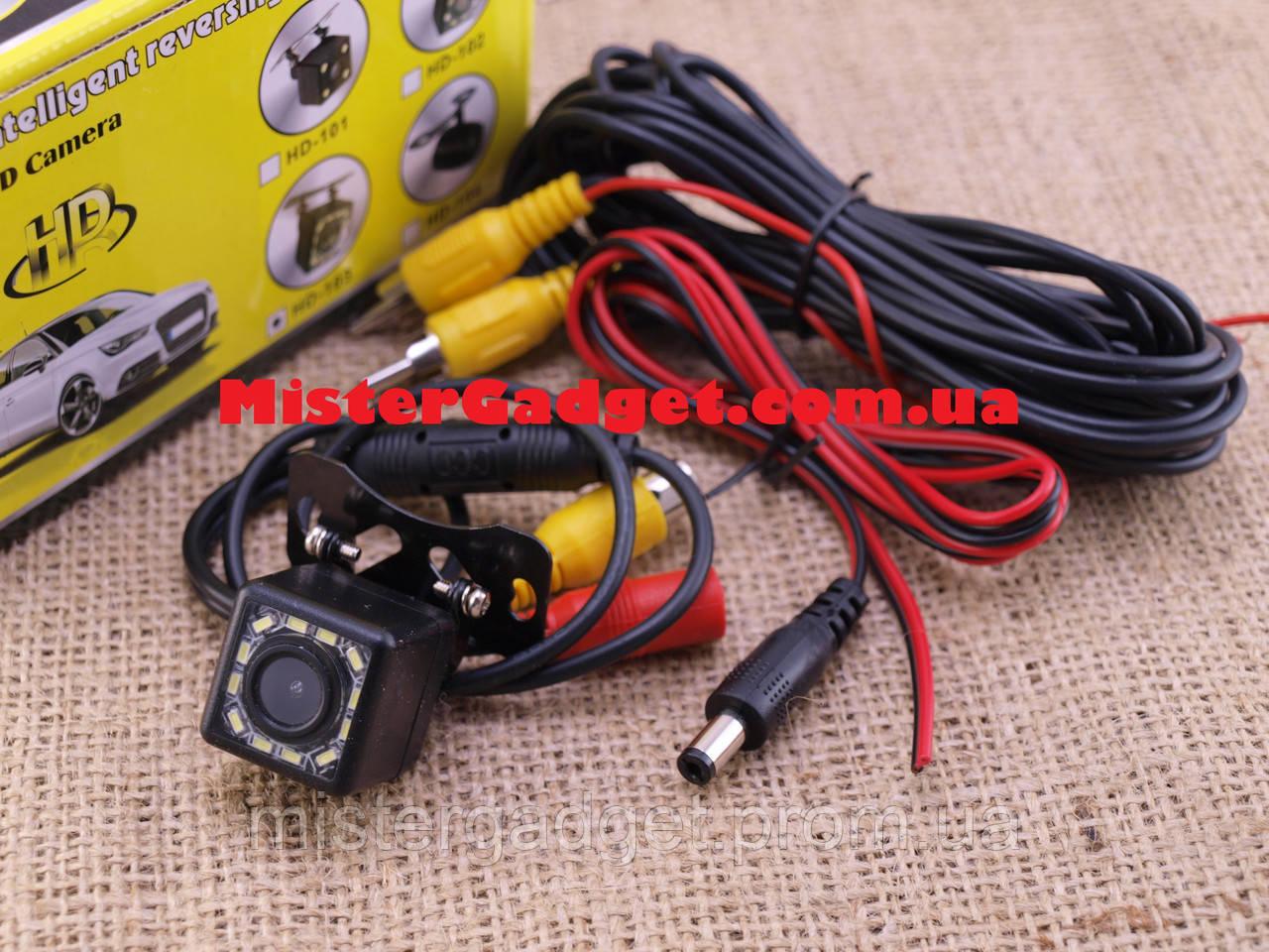 Камера заднего вида HD-103 Бабочка с подсветкой и разметкой