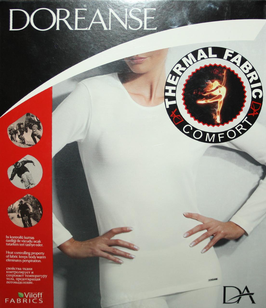Жіноча термокофта чорного кольору Doreanse 8565