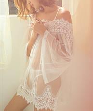 Кружевной прозрачный  пеньюар Домашняя одежда, фото 3