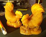 """Восковая свеча """"Петушок"""" из натурального пчелиного воска, фото 4"""