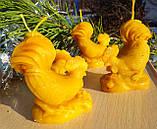 """Восковая свеча """"Петушок"""" из натурального пчелиного воска, фото 5"""