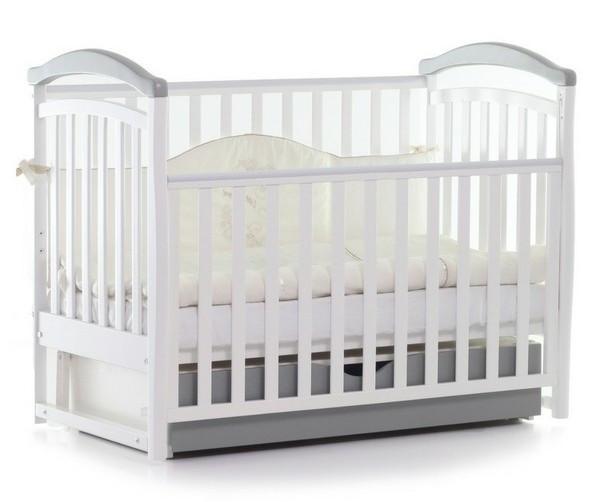 Детская кроватка Верес Соня ЛД 6 (бело-серый)