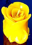 """Восковая свеча """"Бутон розы"""" из натурального пчелиного воска, фото 2"""