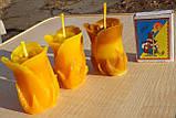 """Восковая свеча """"Бутон розы"""" из натурального пчелиного воска, фото 4"""
