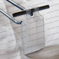 Держатель ценника 27х32мм, для крючков, ценникодержатель для крючков, пластиковый ценникодержатель