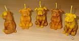 """Восковая свеча """"Собачка"""" из натурального пчелиного воска, фото 3"""