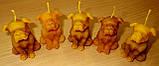 """Восковая свеча """"Собачка"""" из натурального пчелиного воска, фото 6"""