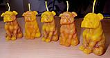 """Восковая свеча """"Собачка"""" из натурального пчелиного воска, фото 7"""