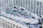 """Кокон-гнездышко для новорожденного""""Серые совы"""", фото 4"""
