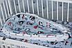 """Кокон-гнездышко для новорожденного""""Серые совы"""", фото 3"""