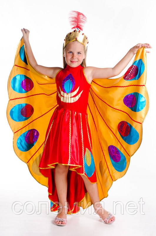 Детский карнавальный костюм для девочки Жар-птица 122-140р