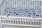 """Сменное  постельное белье в кроватку малыша принт """"Серые совы"""", фото 2"""
