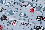 """Сменное  постельное белье в кроватку малыша принт """"Серые совы"""", фото 4"""