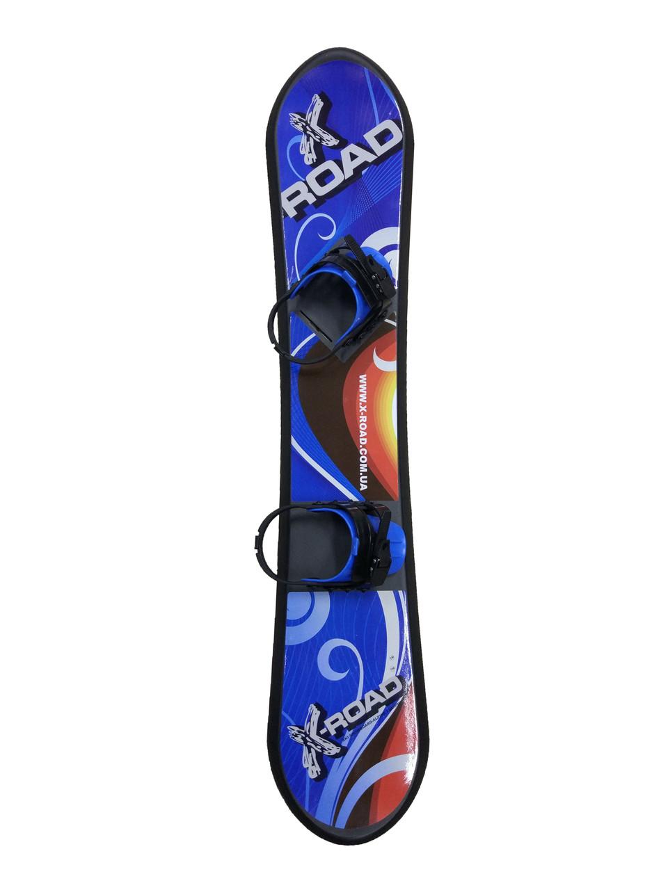 Сноуборд дитячий 147 см. пластиковий з кріпленнями X-Road 71101-147,   147 см.