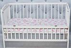 """Детское постельное белье в кроватку младенца  принт """"Сердечки розовые"""", фото 2"""