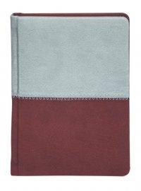 """Щоденник """"Buromax"""" А5 288 сторінок """"Quattro"""" бордовий+сірий н\д"""