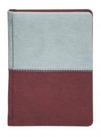 """Ежедневник """"Buromax"""" А5 288 страниц """"Quattro"""" бордовый+серый н\д, фото 2"""