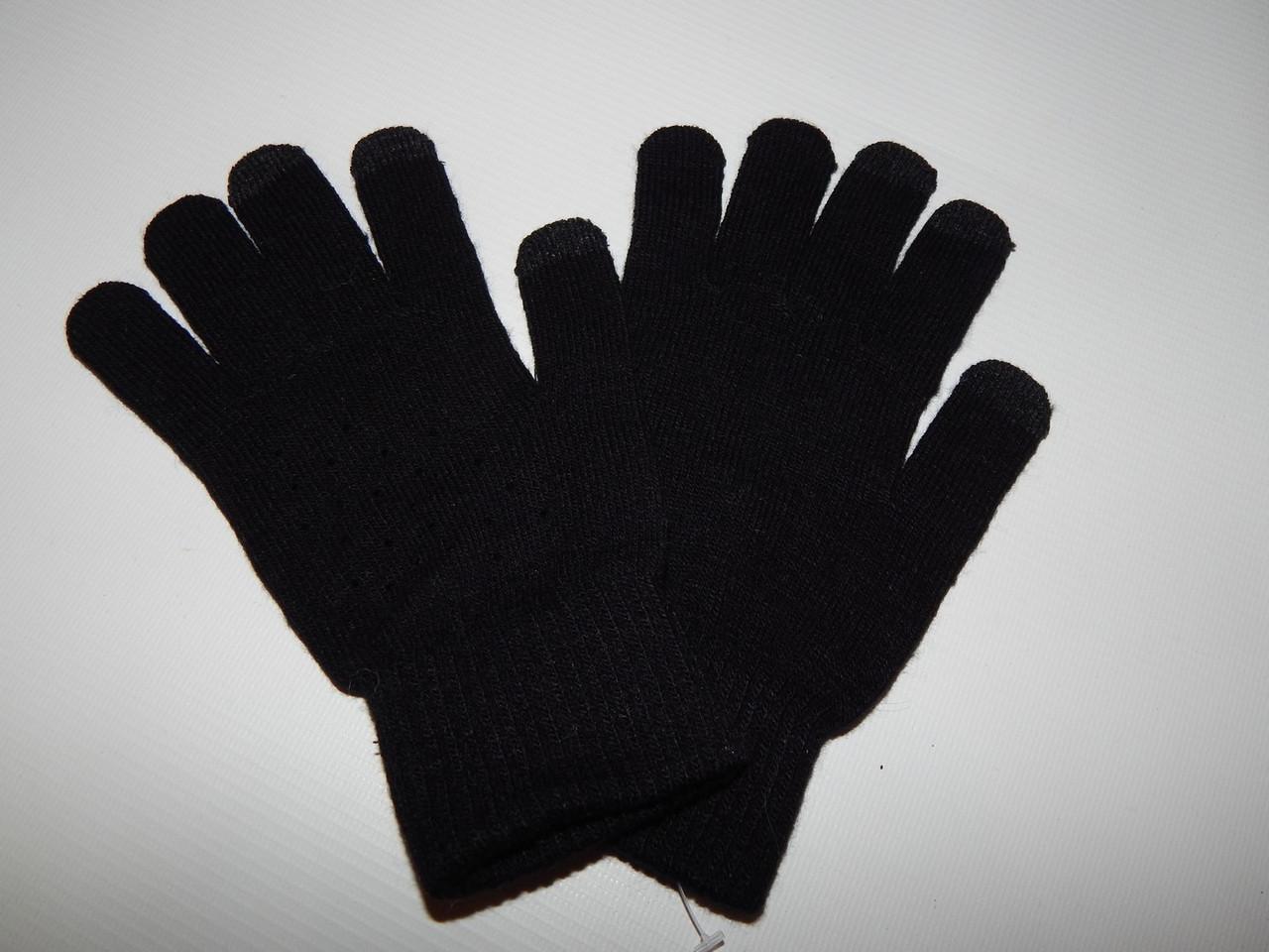 Перчатки  мужские трикотажные сенсорные р.М( 7 )  026PMZ