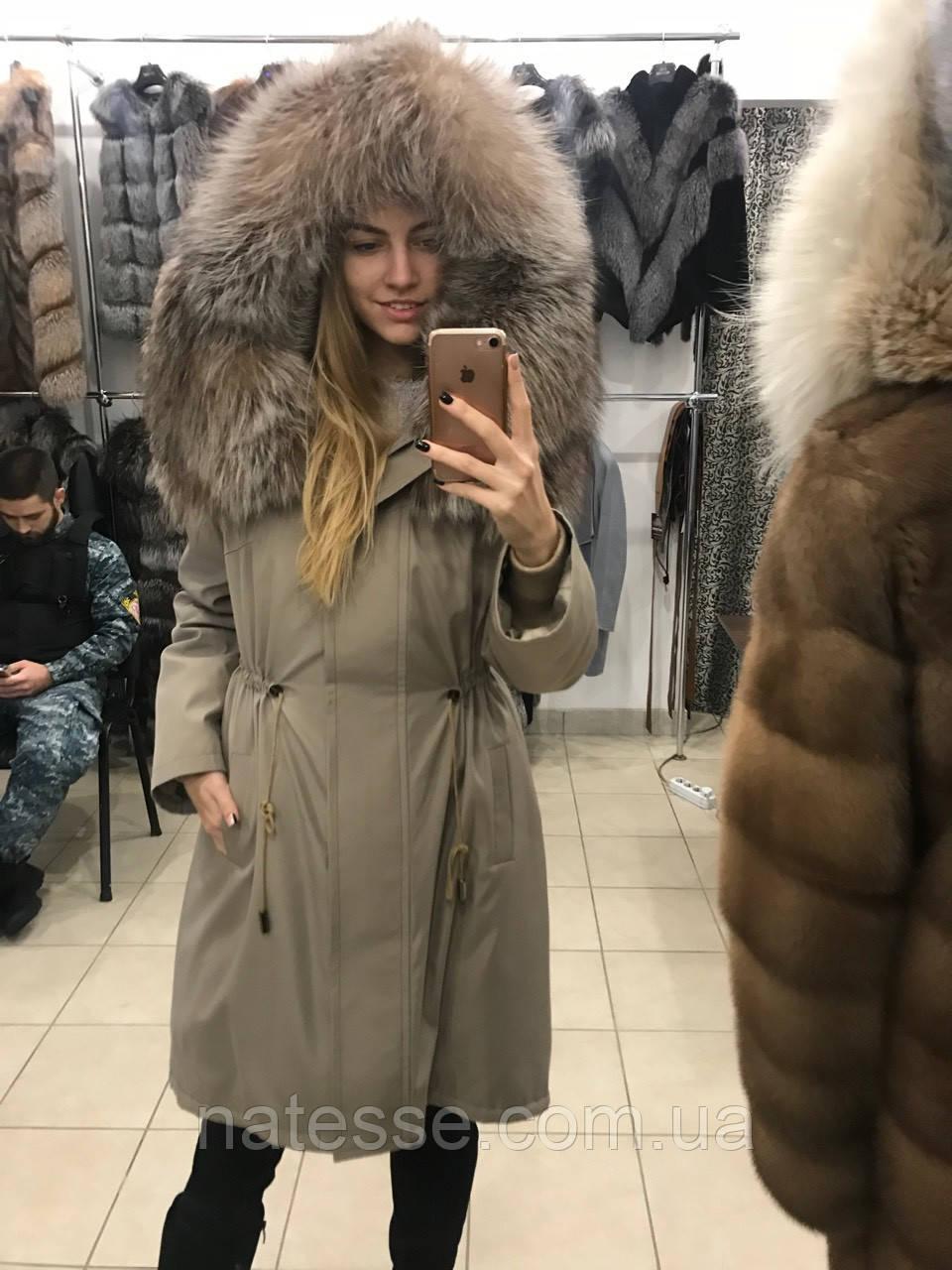 """Парка с мехом чернобурки """"Камея"""""""