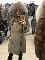 "Парка с мехом чернобурки ""Камея"", фото 1"
