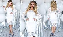 Платье БАТАЛ  гипюр в расцветках 702018, фото 3