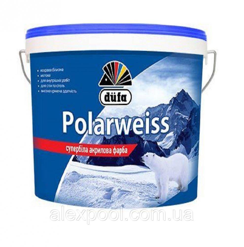 Супер біла акрилова фарба Dufa D605 Polarweiss 7 кг