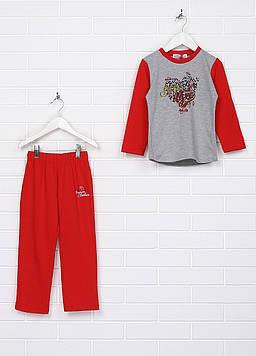 Пижама Happy House 4-5 серый, красный (MA-ACC-G039_Gray-Red)