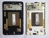 Дисплейний модуль для планшету Lenovo  IdeaTab A3500 в зборі з тачскріном чорний, з рамкою, Original, #SD69A6MWGC