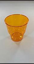 Стакан стекловидный 200мл 25шт оранжевый (метка-200)