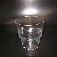 Стакан стекловидный 200мл 50шт (метка-100,200)