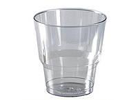 Стакан стекловидный 200мл 25шт прозрачный (метка-200)