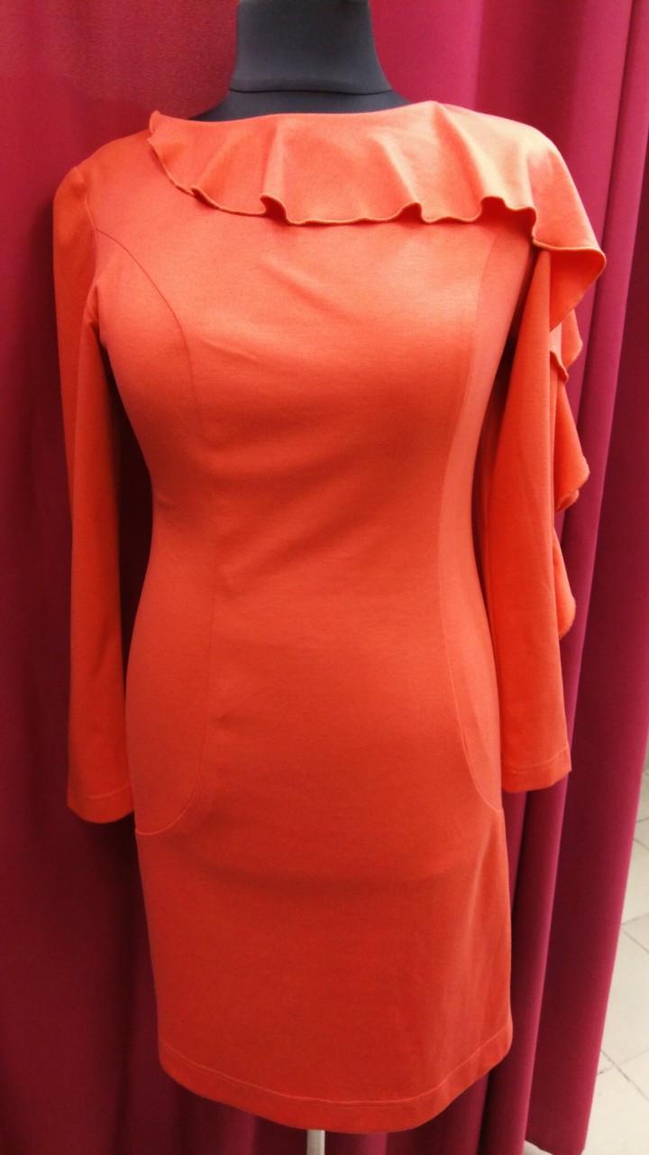 Платье женское Petro Soroka модель КТ 1654-04 коралловое